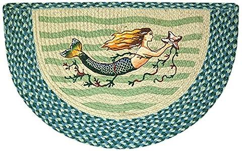 EarthRugs 32-245 Mermaid Slice Rug, 18-Inch by 29-Inch, Blue/Sea Green - Slice Kitchen Rug