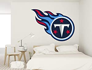 American Football Logo Titans - Removable Wall Decal Vinyl for Home Decoration (30x22)