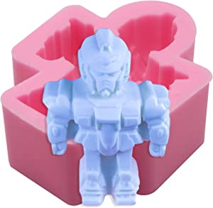 Meiyouju robot Candy Molds Silicone,Food Grade Silicone Cake Molds , Resin Molds,Candy, Icing, Biscuit Decor, Chocolate, Polymer Clay, Epoxy