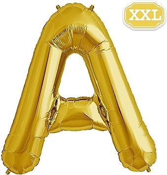 XXL 100cm Riesen Gold Hochzeit Geschenk Helium Zahl 0 Folienballon Party Deko