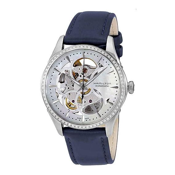 Hamilton - Reloj Mujer Hamilton Jazzmaster Viewmatic Skeleton Lady diamantes h42405991 pulsera piel - h42405991: Amazon.es: Relojes
