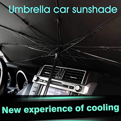 SUNERLORY Sun Shade for Trucks Cars Auto Vehicle Shield Reflector Blocking Screen Cover Foldable Summer Sunscreen Cooling Sunshade Front Window Windshield Sun Shade