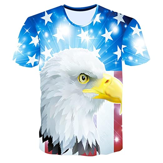 294704f75bb01 Source · Allywit Apparel American Flag On Bald Eagle Wings Men s T Shirt 4th