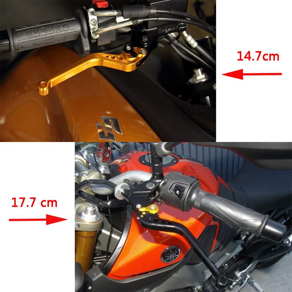 Levier d/'embrayage de frein court r/églable pour Yamaha MT-125//R125 2014-2017 Type court Argent Couleur