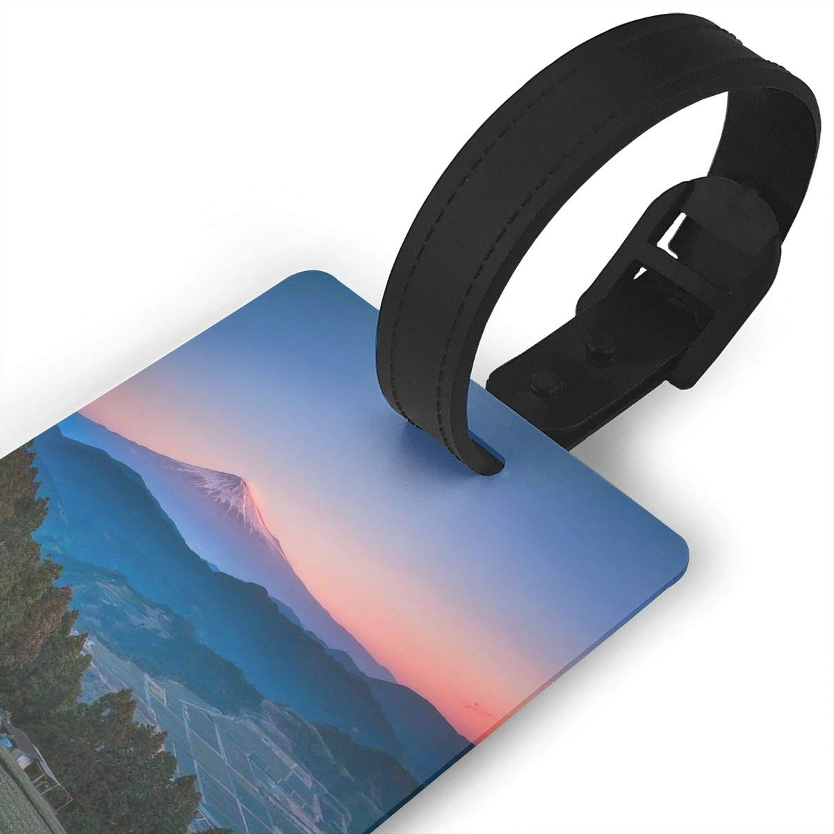 2 Pack Luggage Tags Mount Fuji Travel Tags For Travel Bag Suitcase Accessories