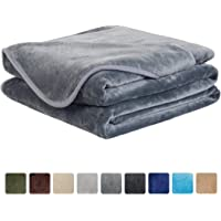 EASELAND Soft Blanket All Season Warm Fuzzy Microplush Lightweight Thermal Fleece Blankets for Couch Bed Sofa