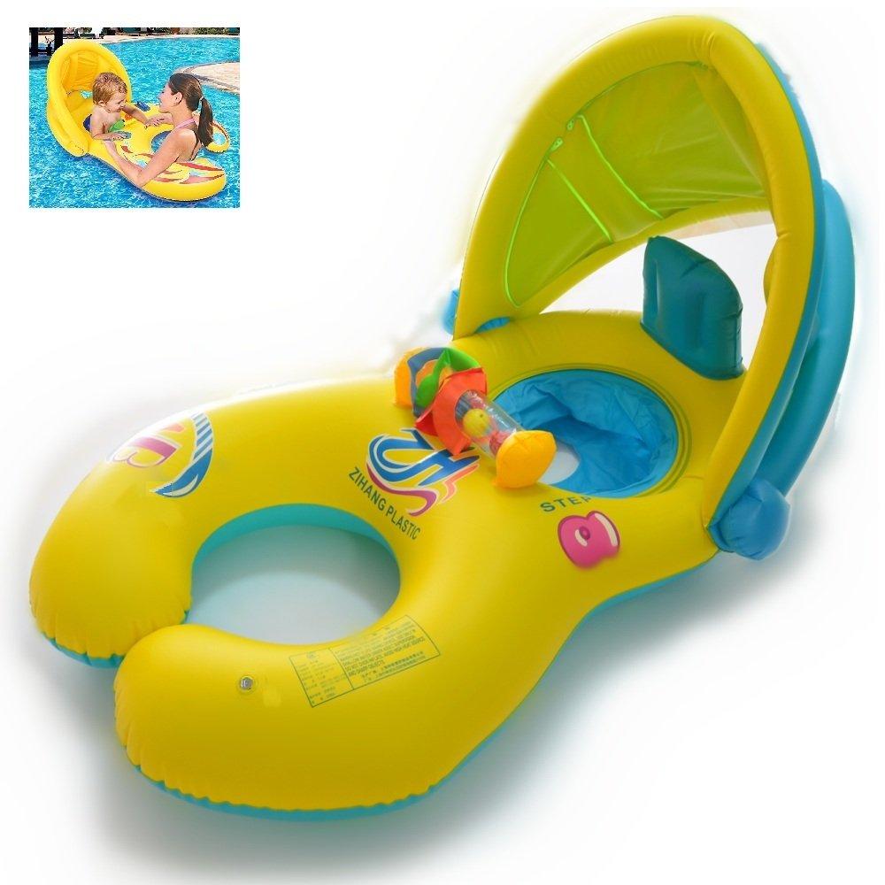 Qilerongrong Gonfiabile per madre e Bambini Baby Float Piscina Neonati 1-3 anni Presidenza molle di sicurezza del sedile