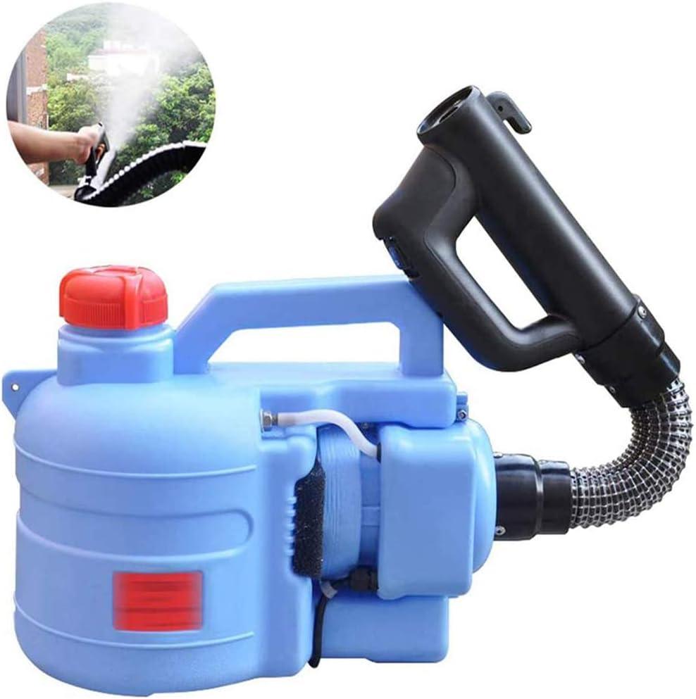5L portátil ULV eléctrica pulverizador, Medio Ambiente y Agricultura Desinfección del atomizador de la máquina, Niebla Tamaño de la Gota 0 a 20μm, Rociar Distancia 6 a 8 m, Azul,Azul,45cm Hose