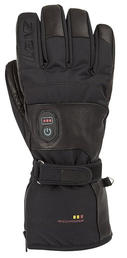 LENZ Hombre – Guantes calefactables Heat Gloves 1.0 Negro Negro Talla:Medium
