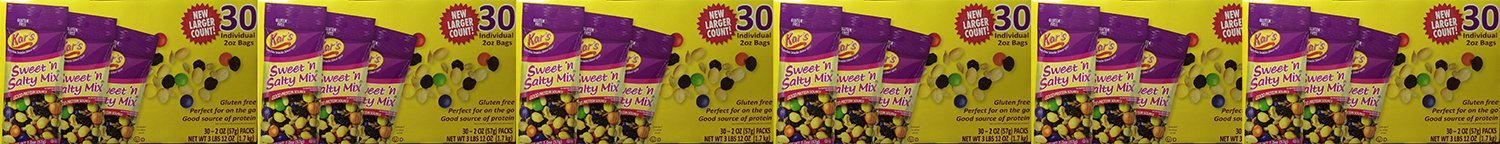 Kar's Sweet 'n Salty Trail iQzIN Mix, 30 Count (6 Pack) by Kar's Snacks (Image #1)
