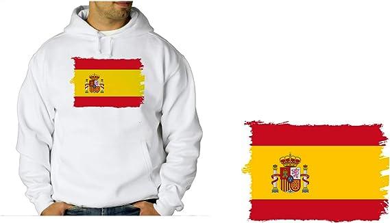 MERCHANDMANIA Sudadera con Capucha Bandera ESPAÑA Pais Unido ...