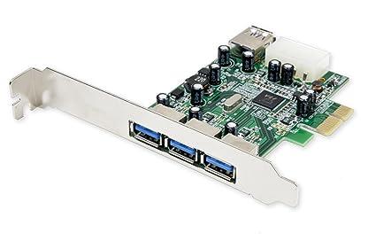 SYBA - Tarjeta PCI-Express x1 (3 Puertos USB 3.0 y 1 Puerto ...