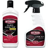 Weiman Glass Ceramic Cooktop Cleaner - 10 Ounce - Stove Top Daily Cleaner Kit- 12 Ounce - Glass Ceramic Induction Cooktop Cleaning Bundle For Heavy Duty Mess Cleans Burnt On Food