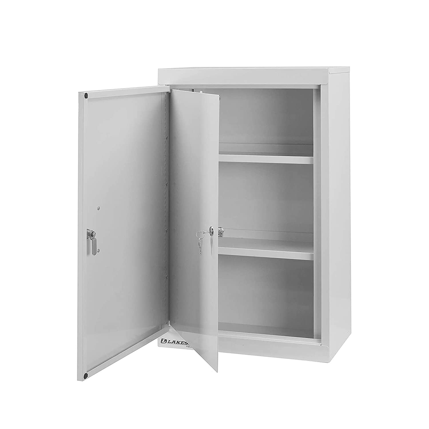 Lakeside LNC-6D Narcotic Cabinet, Steel, Double Door and Lock with 2 Adjustable Shelves (Fully Assembled)