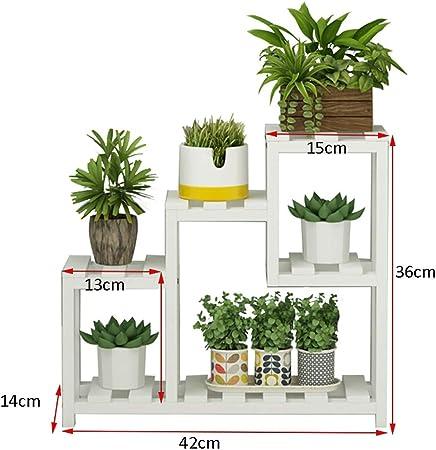 YXWa Puesto de Plantas Soporte de Mesa de Cuatro Pisos para Flores ...