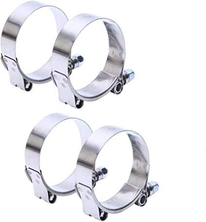 """4PCS 2/"""" T-Bolt Clamp Silicone Stainless Steel Hose Turbo Intake Intercooler Best"""