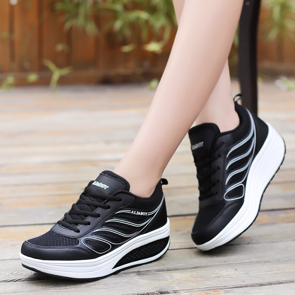 Amazon.com | No.66 TOWN Womens Waiking Running Shoes Comfortable Platform Jogging Sneakers US5.5-8.5 | Running