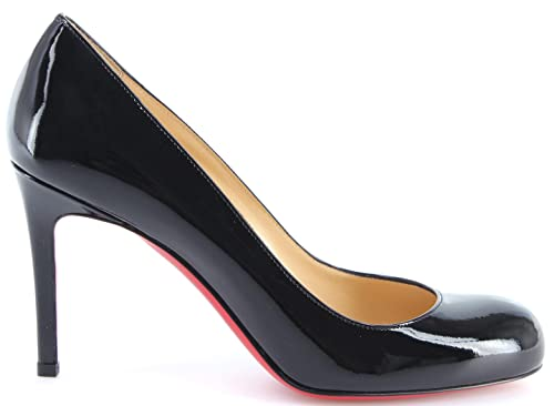 Scarpe Donna CHRISTIAN LOUBOUTIN Paris Decollete Simple Pump 85 Patent Calf  Nere 0cdc45bb1ae