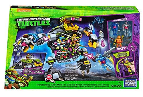 [Mega Bloks Teenage Mutant Ninja Turtles Transforming Turtle Mech Set] (Ninja Turtle Suits)