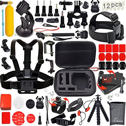 leknes-common-outdoor-sports-bundle-for-sj4000-sj5000-and-gopro-hero-4-3-3-2-1-cameras-31-items