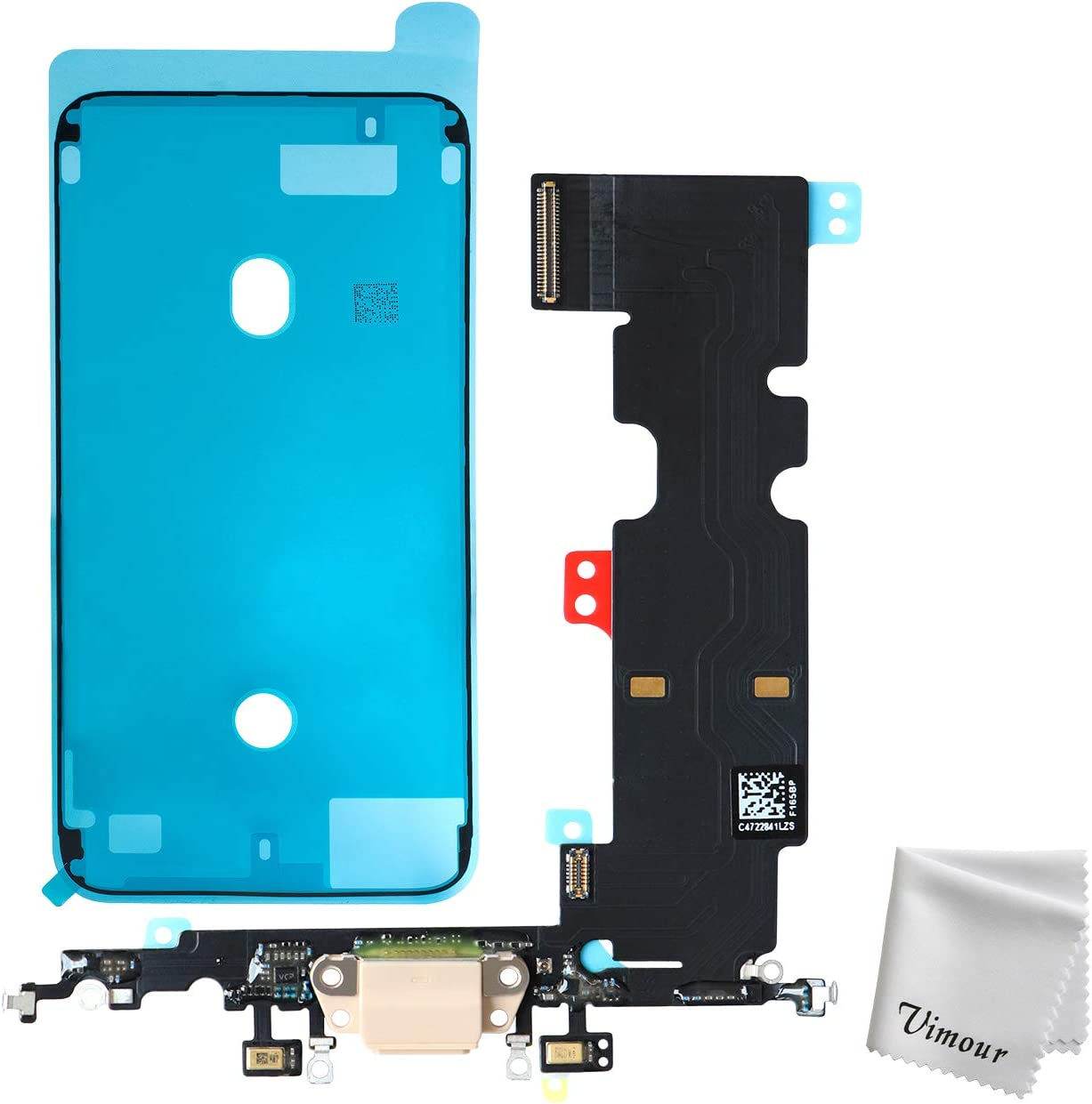 Vimour OEM USB Charging Port Dock Connector Flex Cable with Microphone Replacement for iPhone 8 Plus 5.5 Inches (Rose Gold)