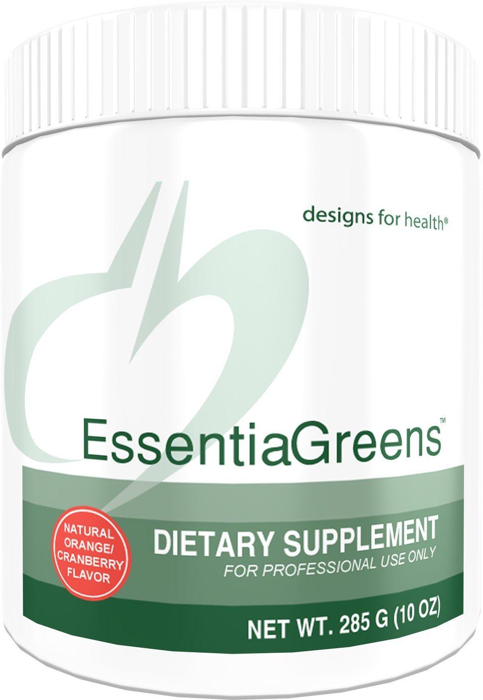 Designs for Health - EssentiaGreens Powder - Organic Alkalizing Vegetables + Prebiotic Fiber + Gluten-Free, 285 Grams