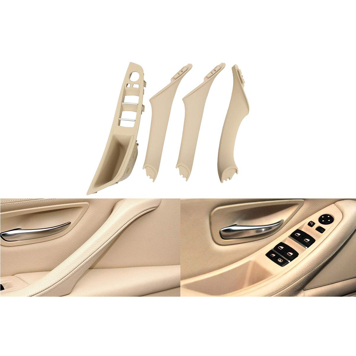 Left Front Driver Side Window Switch Armrest Panel XtremeAmazing Beige Right Front//Rear Left//Rear Right Side Inner Interior Door Pull Panel Handle Armrest Outer Trim Cover Kit