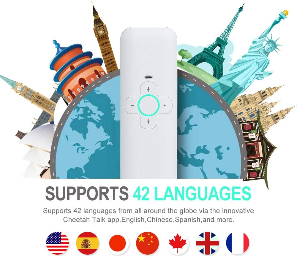 AI Translator Smart Language Translator Device Handheld Portable Real Time Instant Two-Way Language Translation Support 40 Language Freely Translation Artificial Intelligence Tool