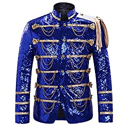 Men's Slim Fit Sequin Single Breasted Jacket