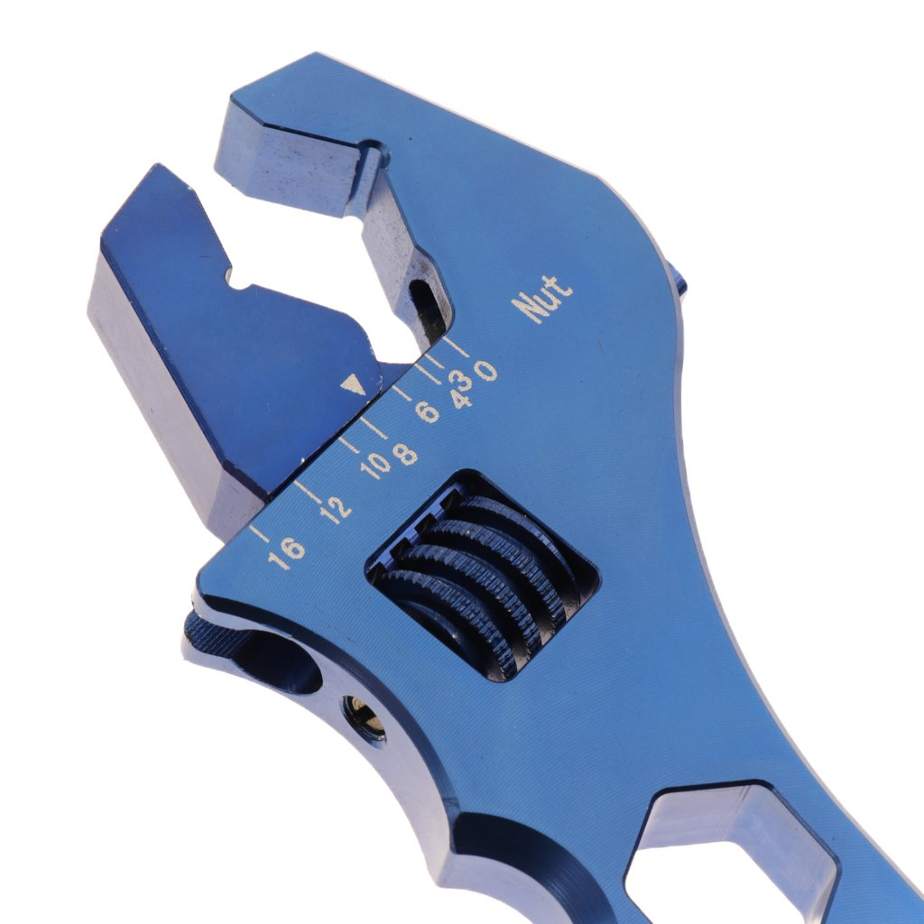 Baoblaze Car Oil Filter Wrench AN3 to AN16 Release Tool AN Fitting Spanner Adjustable - Blue by Baoblaze (Image #7)