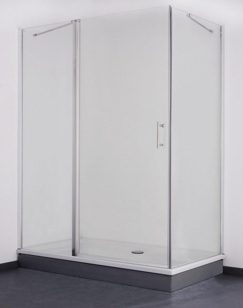 Galdem Mampara premium 6 mm/cabinas de ducha/perfil en aluminio brillante/puerta giratoria con cierre magnético/cristal de seguridad: Amazon.es: Bricolaje y herramientas