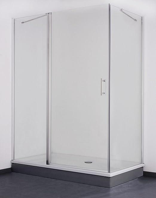 Galdem GABDA45 mampara de 140 x 80 cm Cabina de ducha de cristal para baño vidrio 6 mm: Amazon.es: Bricolaje y herramientas