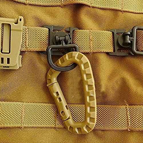 YCNK Accessori Borsa 16pcs tattico per MOLLE della tessitura Zaini fissaggio compresa D-Ring Grimloc Blocco / fibbia Clip / idratazione Clip Tube / D-Ring Clip per Outdoor Molle Backpack