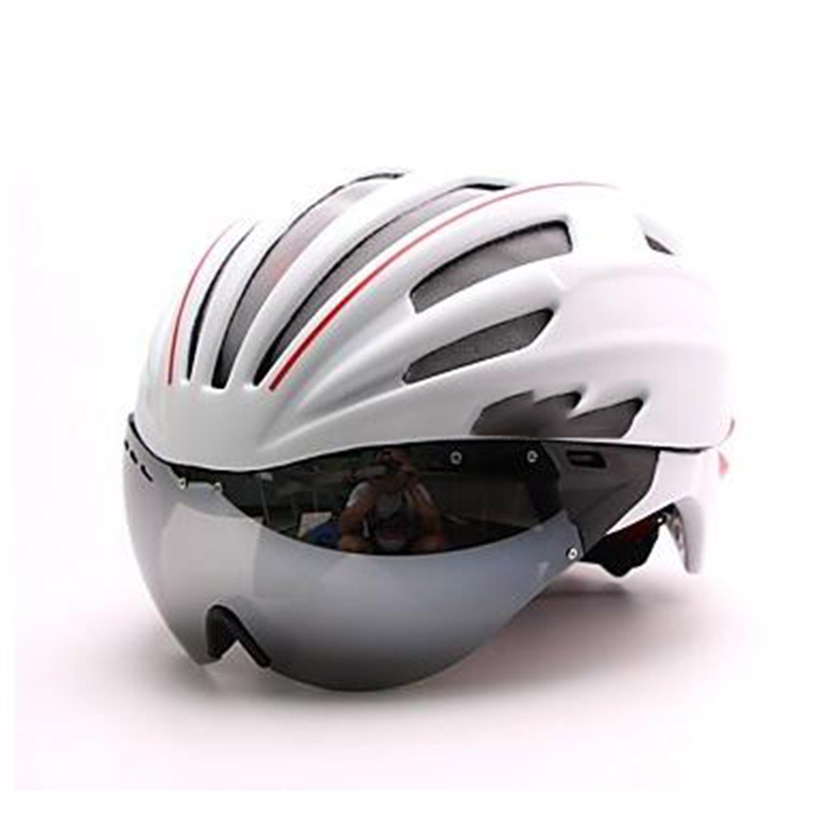 TZQ Unisex Full-Face Bike Helm 28 Vents Radfahren Road Cycling Medium: 54-60cm PC / EPS Weiß / Grün / Rot / Blau