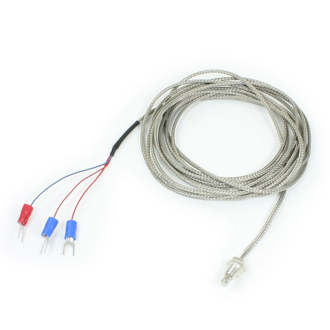 sourcing map PT100 6mm Fil Temp/érature Contr/ôleur Thermocouple Sonde 3 M/ètres