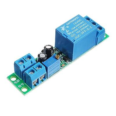 Tutoy Dc 12V Commutateur Delay Module Relais Delay Réglable 0 ~ 25 Seconde Déclenchement Du Signal Module De Commutation