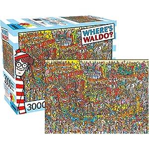 AQUARIUS-Wheres-Wally-Waldo-GIANT-jigsaw-puzzle-3000-Pieces-1150mm-x-820mm-nm