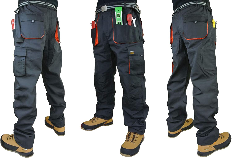 Royaume-Uni-Homme Pantalons de travail Pantalons Heavy Duty Pantalons Knee Pad Cargo Combat Multi Poche.