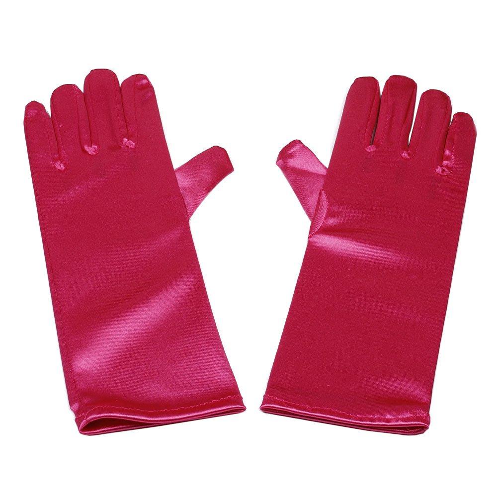 Satin Gloves Wrist Length for Ladies (Black) Seven & Nine Service