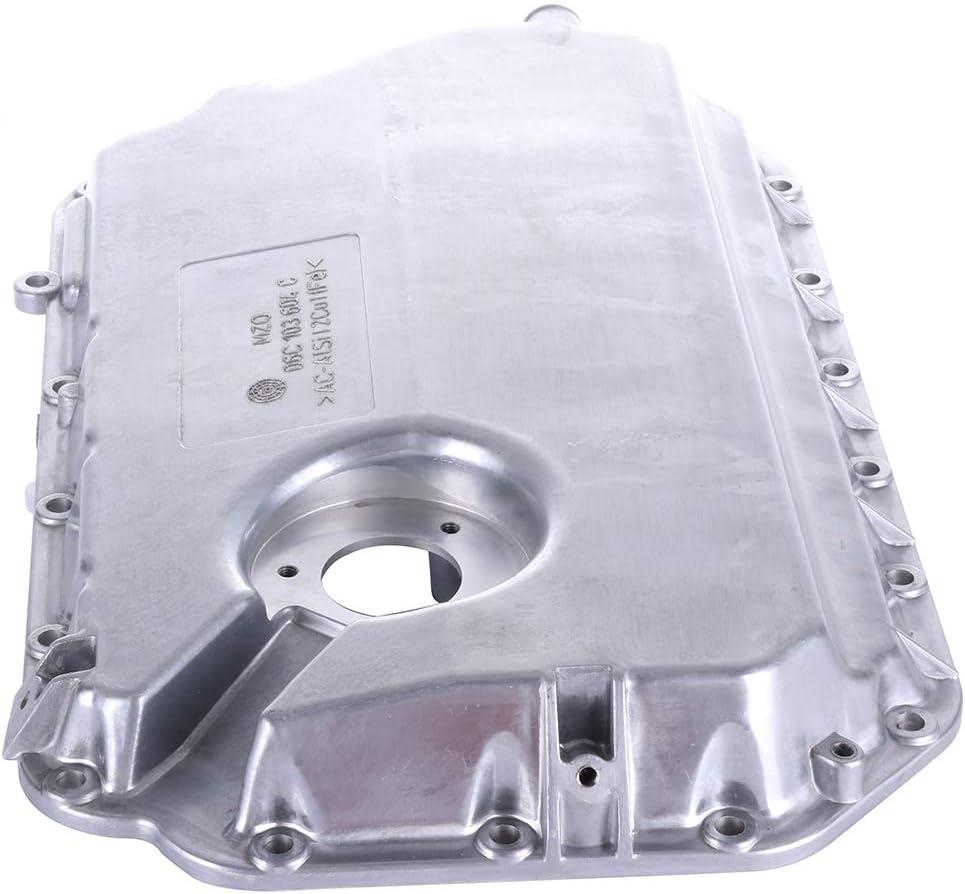ROADFAR Engine Oil Pan Drain Plug Kits for Aluminum Assembly fit for 02 03 04 05 06 Audi A4 A6 Quattro Lower V6 Cummins Diesel L6 5.9L 6.7L with OE 264-716 Oil Drain Pan