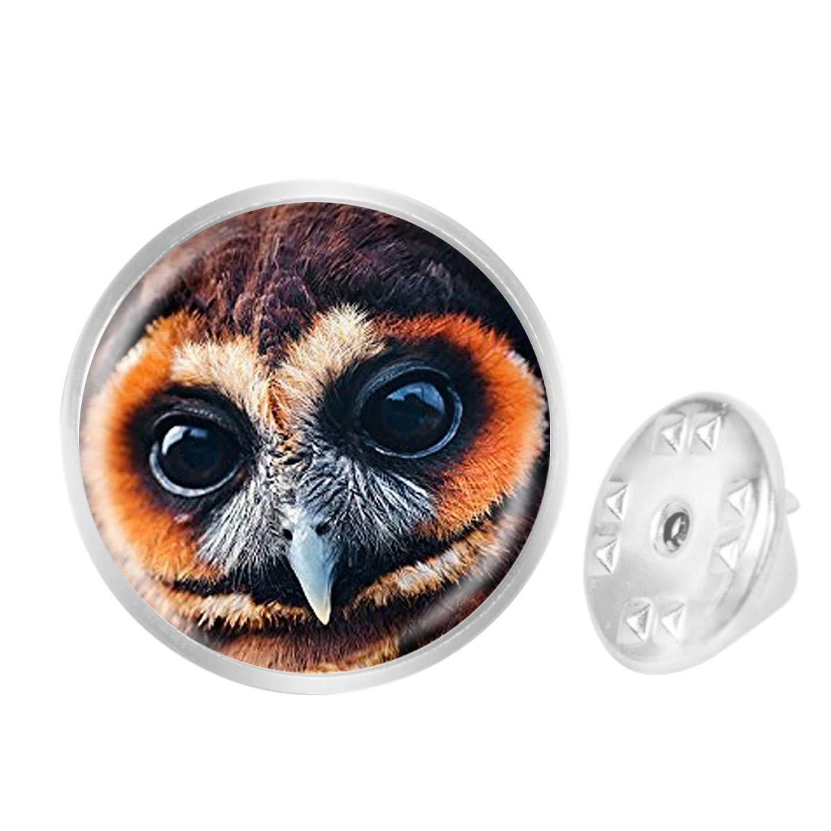 Custom Lapel Pin Brooches Brown Owl Face Banquet Badge Pins Trendy Accessory Jacket T-Shirt Bag Hat Shoe