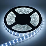 Rudra Automobiles 5M 12V Waterproof SMD LED Flexible Strip, 60 LED/M (White)