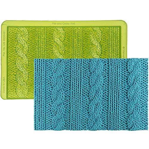 Marvelous Molds Rib | Cable Knit Simpress Silicone Mold | Cake Decorating | Fondant | Gumpaste ()