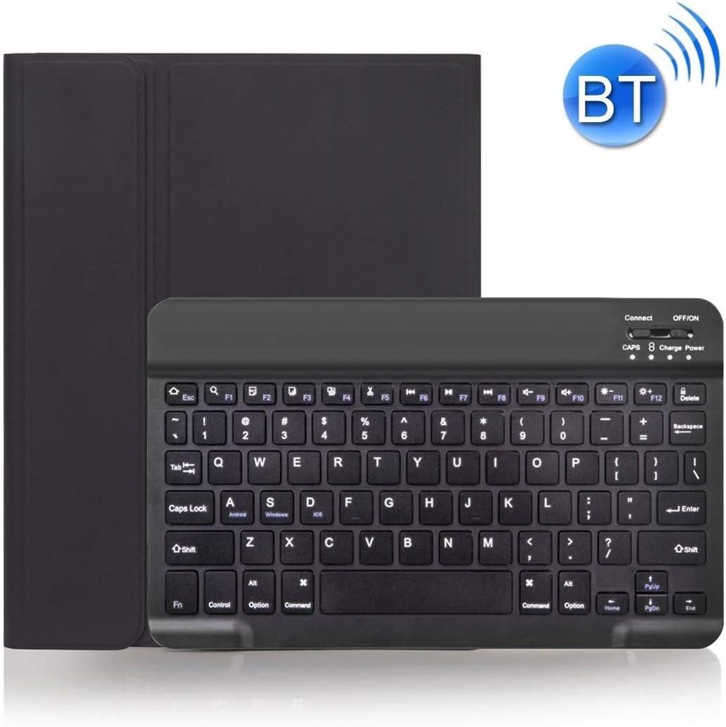 Teclado Durable Caja de la Piel con Textura extraíble Bluetooth, for iPad Pro 11 Pulgadas 2020/2018, con la Pluma Ranura (Color: Verde Oscuro) xiao1230 (Color : Black)