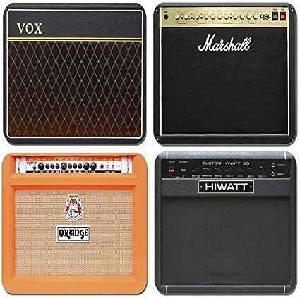 Classic amplificador de guitarra juego de 4 posavasos. Vintage válvula Amp de corcho de alta