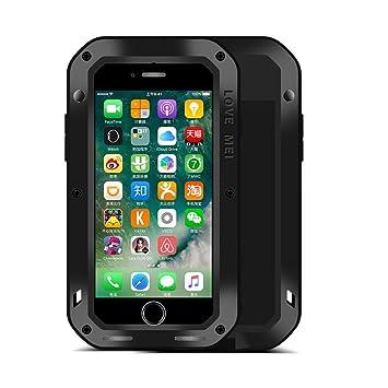 iPhone 7 Funda : Fonrest Love mei Poderosa armadura del metal de aluminio a prueba de golpes Gorilla Glass Snowproof Cubierta Carcasa Hermética al ...