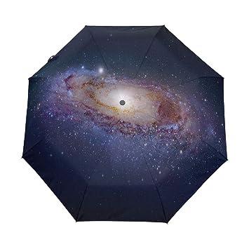 30bd9be785f1 Amazon.com: Umbrella Stylish Starry Universe Golf Travel Sun Rain ...