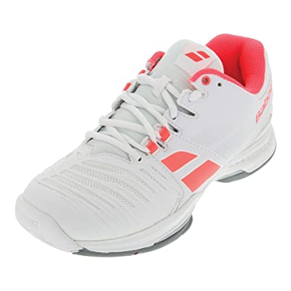 best loved 2714b e7220 Amazon.com   Babolat Women s SFX AC Tennis Shoes (White Pink) 6.0   Sports    Outdoors