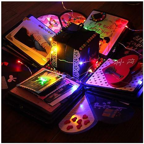 Amazon.com: Caja de regalo creativa con luces de color ...