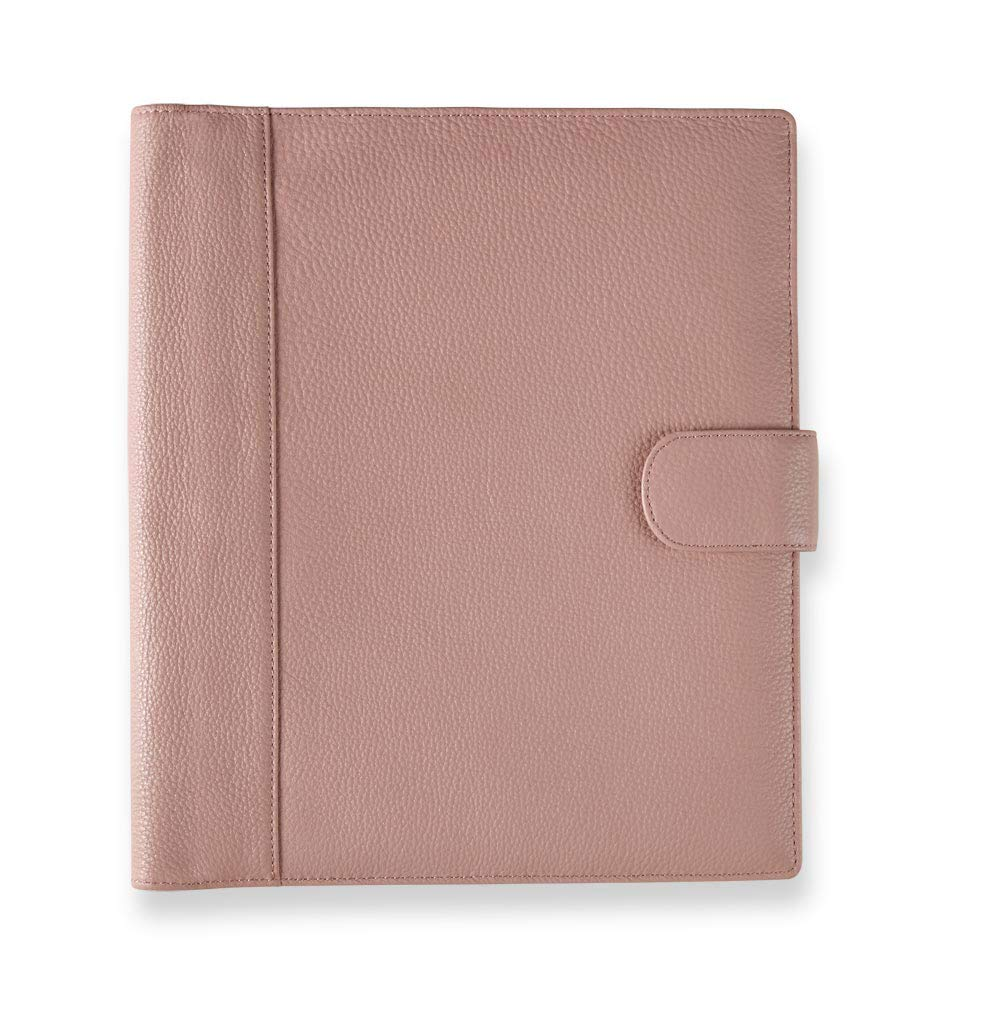 Levenger Blush Carrie Softolio - Luxury Leather Business Portfolio, Discbound Notebook and Notepad Included, for Padfolio Women, 11-Disc, 11.25'' x 12.25'' | Levenger (AL15600) - Blush - Letter